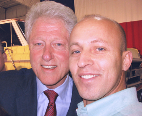 Mr. Berisha and former president Bill Clinton
